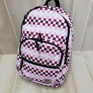 Vans New Check Backpack Pink Purple Laptop Bag